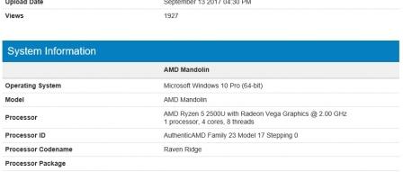 AMD 레이븐릿지 APU, 라이젠5 2500U 긱벤치 등장 by 아키텍트