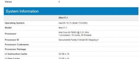 애플, i9-7900X 탑재 아이맥과 맥프로 출시 준비중 by 프로페셔널