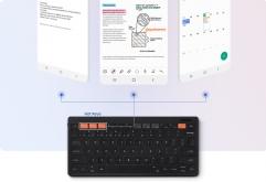 삼성전자가 뛰어난 연결성과 휴대성을 모두 갖춰 업무와 학습의 효율성을 한층 높여주는 무선 키보드 '삼성 스마트 키보드 트리오 500(Samsung Smart Keyboard Trio 500)'을 24일 출시한다.  3개의 블루투스 키를 탑...