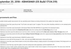 미국 Microsoft는 20일(현지 시간) 50종류 이상의 오류를 수정한 Windows 10 전용 갱신 프로그램 배포를 시작했다.    Windows 10 April 2018 Update(1803)→ 수정 프로그램은 KB4458469. 갱신 후 빌드는 17134.31...