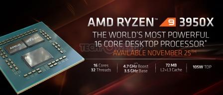 AMD, 라이젠9 3950X, 3세대 스레드리퍼 3970X-3960X, 애슬론 3000G 발표 by 아키텍트
