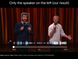 구글, 동영상 음성에서 하나의 음성만 분리하는 기술 발표 by 아키텍트