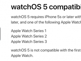 watchOS 5는 초기 Apple Watch를 지원하지 않는다 by 아키텍트